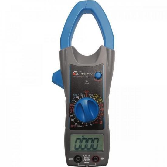 Alicate Amperímetro Digítal ET3201A Azul/Cinza MINIPA