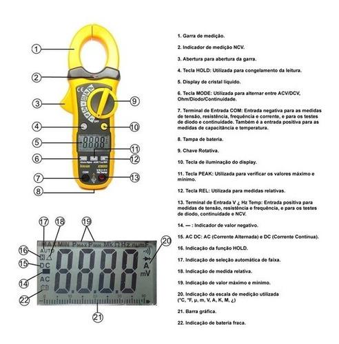 ALICATE AMPERIMETRO DIGITAL HIKARI HA-3320 (21N045)