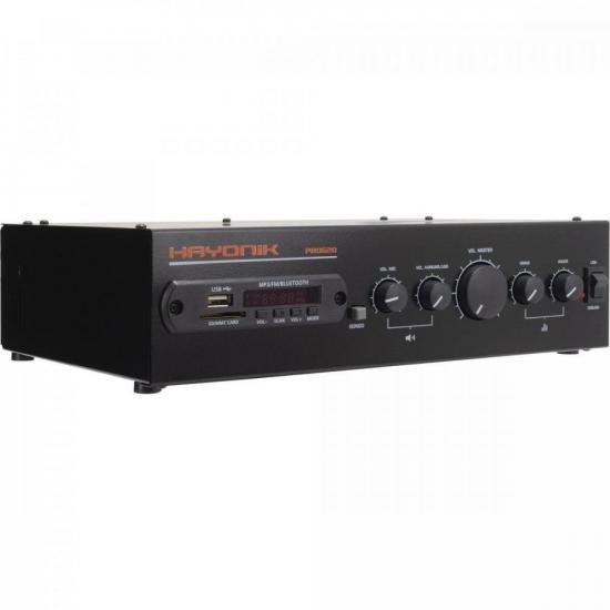 Amplificador 100W RMS com Gongo Eletrônico PRO620 HAYONIK