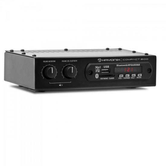 Amplificador 20W RMS com Bluetooth COMPACT 200 HAYONIK