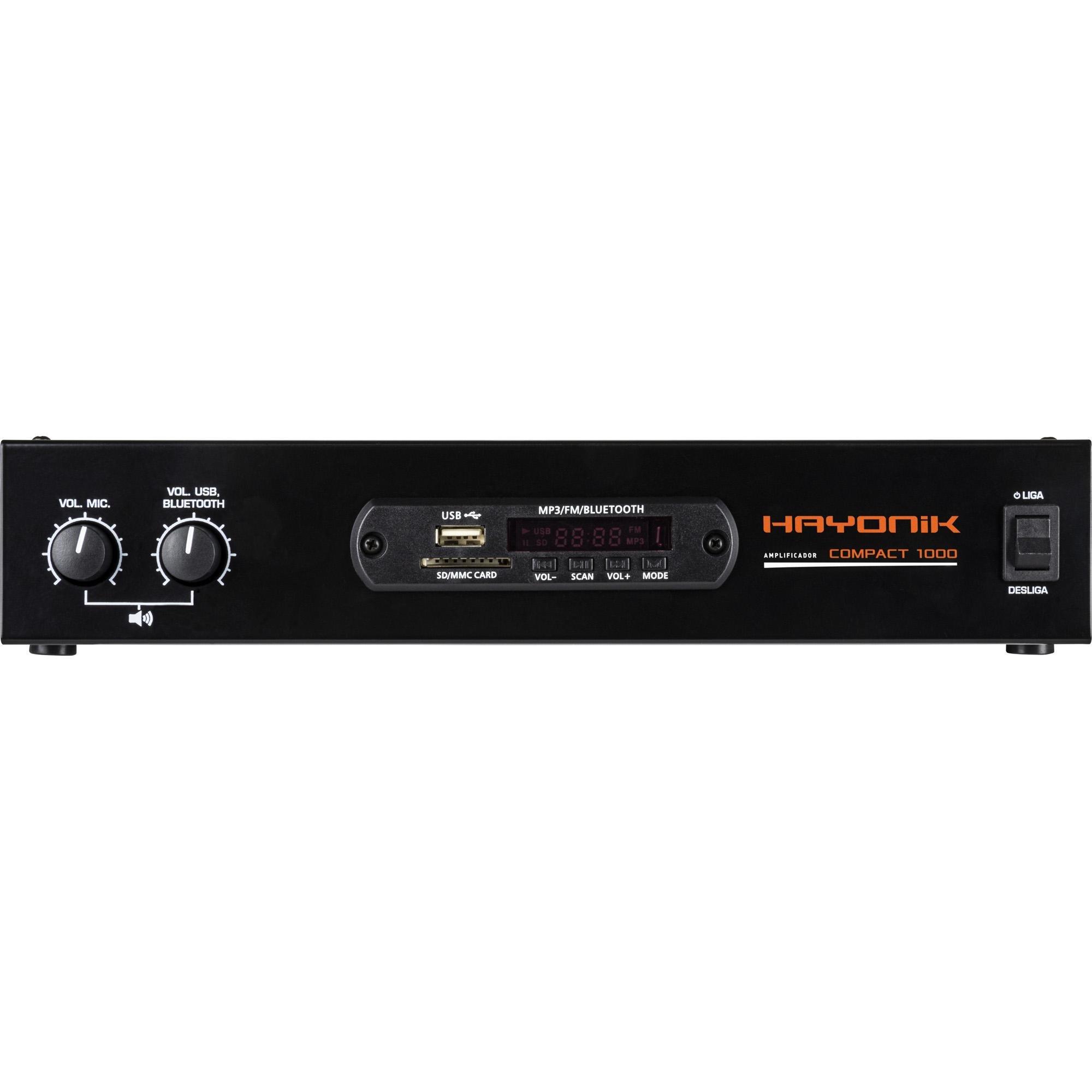AMPLIFICADOR HAYONIK COMPACT 1000 80W 4R (068140)