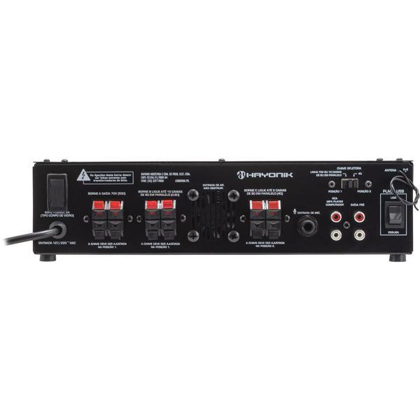 AMPLIFICADOR PRO620 C/GONGO 70V/4R 100W (66070)