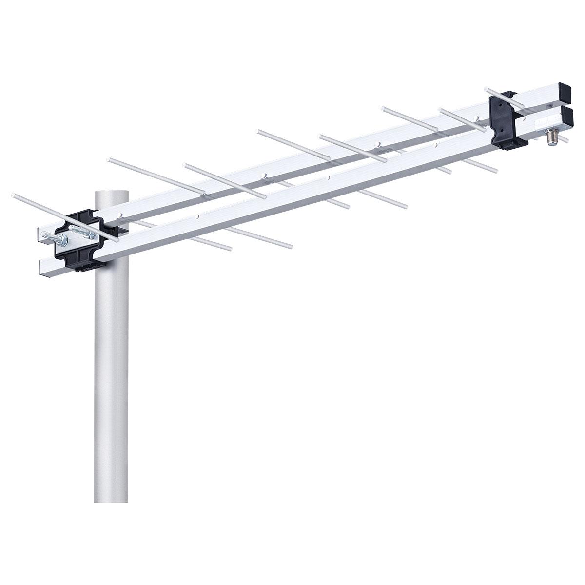 ANTENA EXTERNA LOG PERIÓDICA UHF HDTV 8 ELEMENTOS POP 11DBI LU-8P