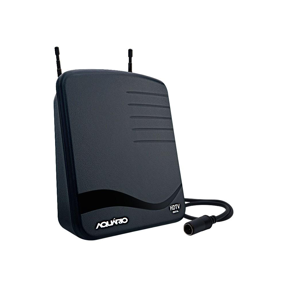 ANTENA INTERNA PARA RECEPÇÃO DE SINAL DE TV VHF / UHF / HDTV / FM - HASTES TELESCÓPICAS - DTV-1100