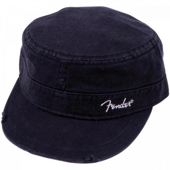 """Boné Logo Military Cap """"P/M"""" Preto FENDER"""