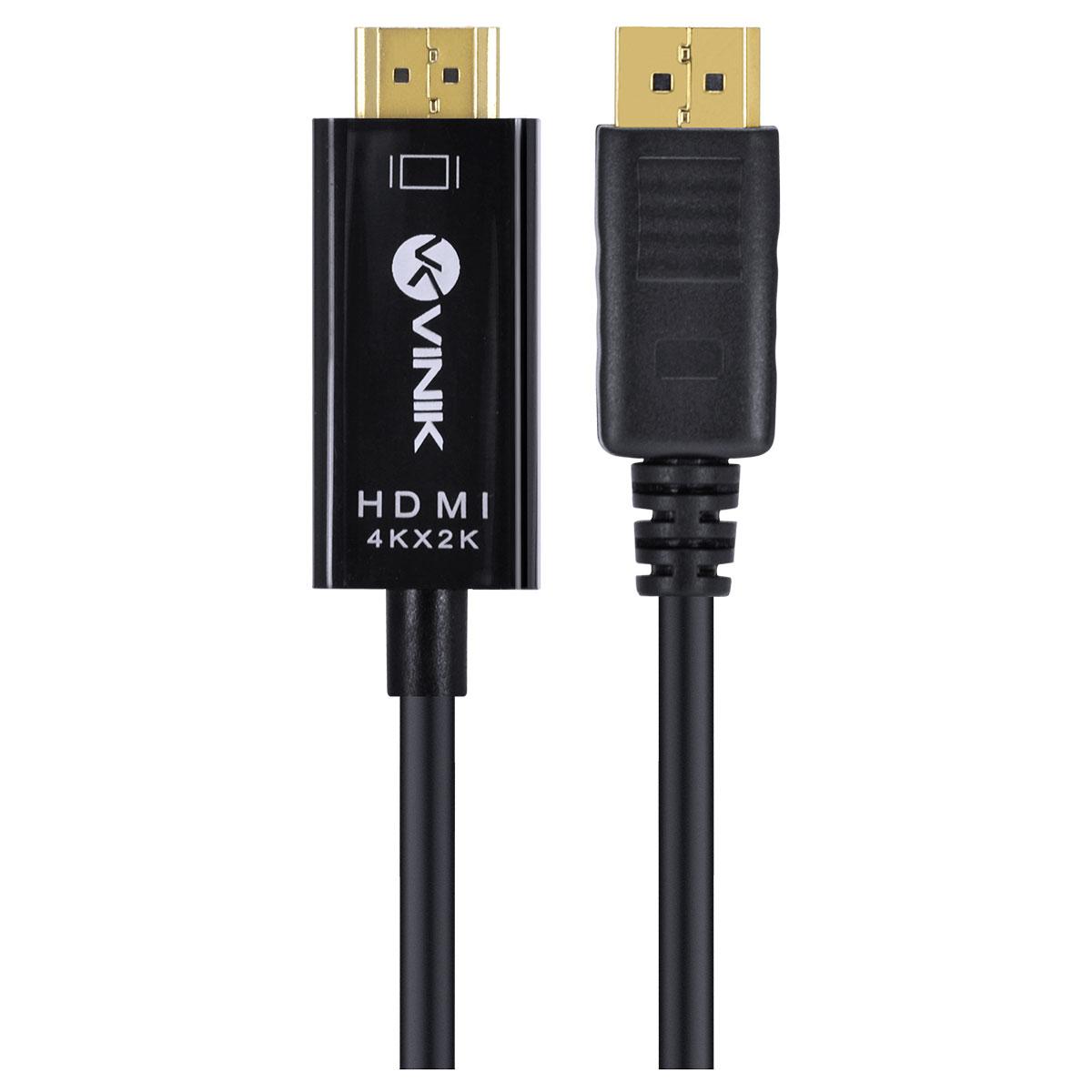 CABO DISPLAYPORT 1.3 PARA HDMI 2.0 4K 30HZ ULTRA HD 2 METROS - H20DP13-2