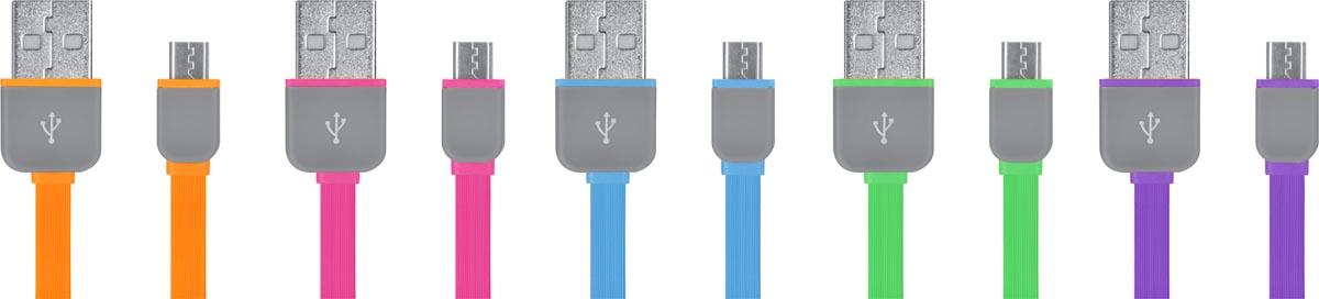 CABO FLAT MICRO USB 5 PIN WI298 SORTIDOS SEM OPÇÃO DE COR UNITÁRIO