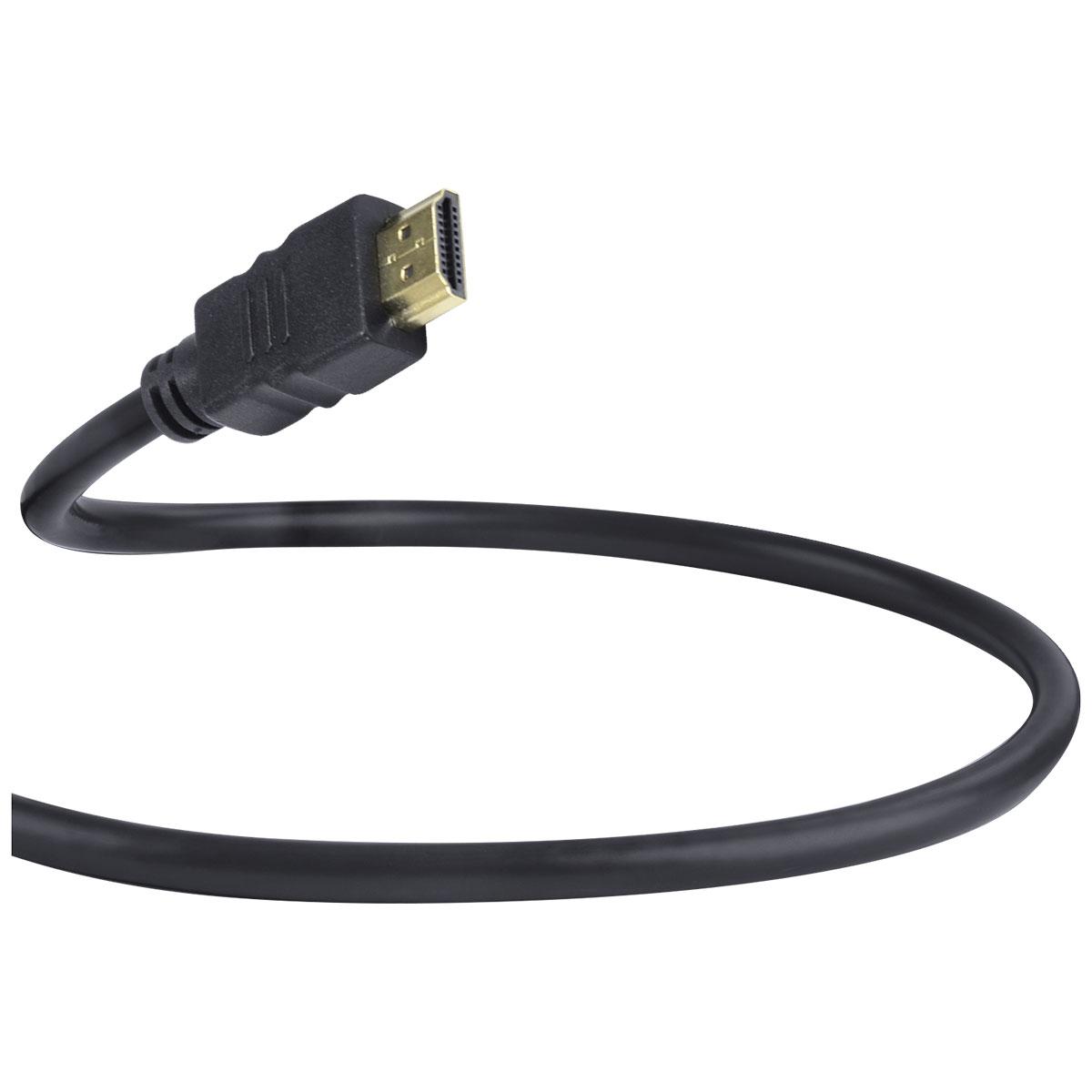 CABO HDMI 2.0 4K ULTRA HD 3D CONEXÃO ETHERNET COM 01 CONECTOR 90º 2 METROS - H2090-2