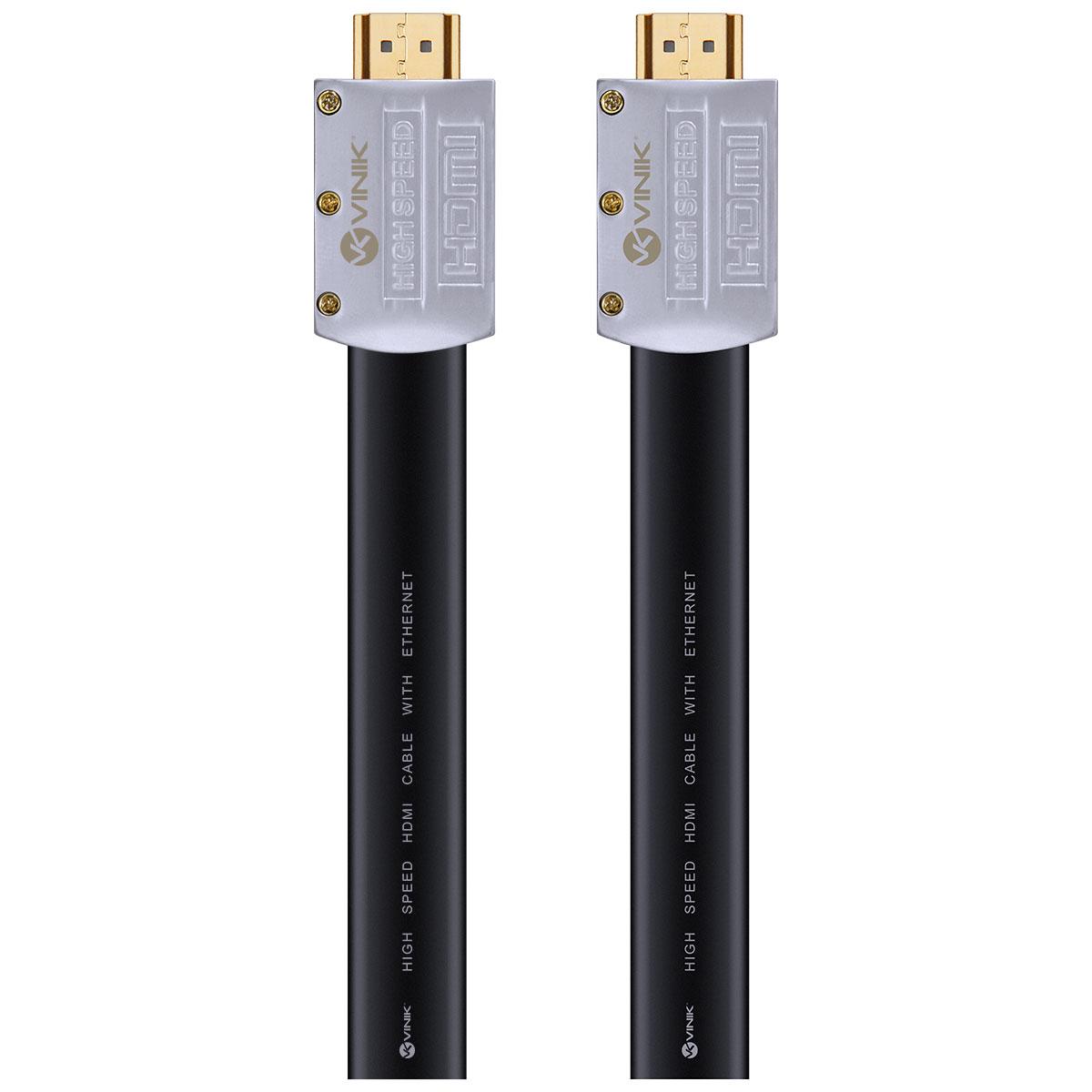 CABO HDMI 2.0 4K ULTRA HD 3D CONEXÃO ETHERNET FLAT COM CONECTOR DESMONTÁVEL 3 METROS - H20FL-3