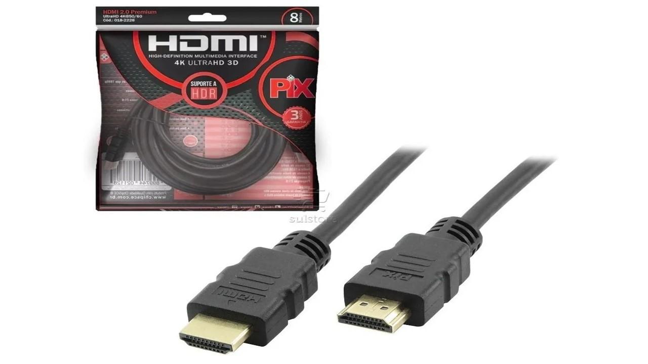 CABO HDMI PIX 2.0 4K 8MT 018-2228