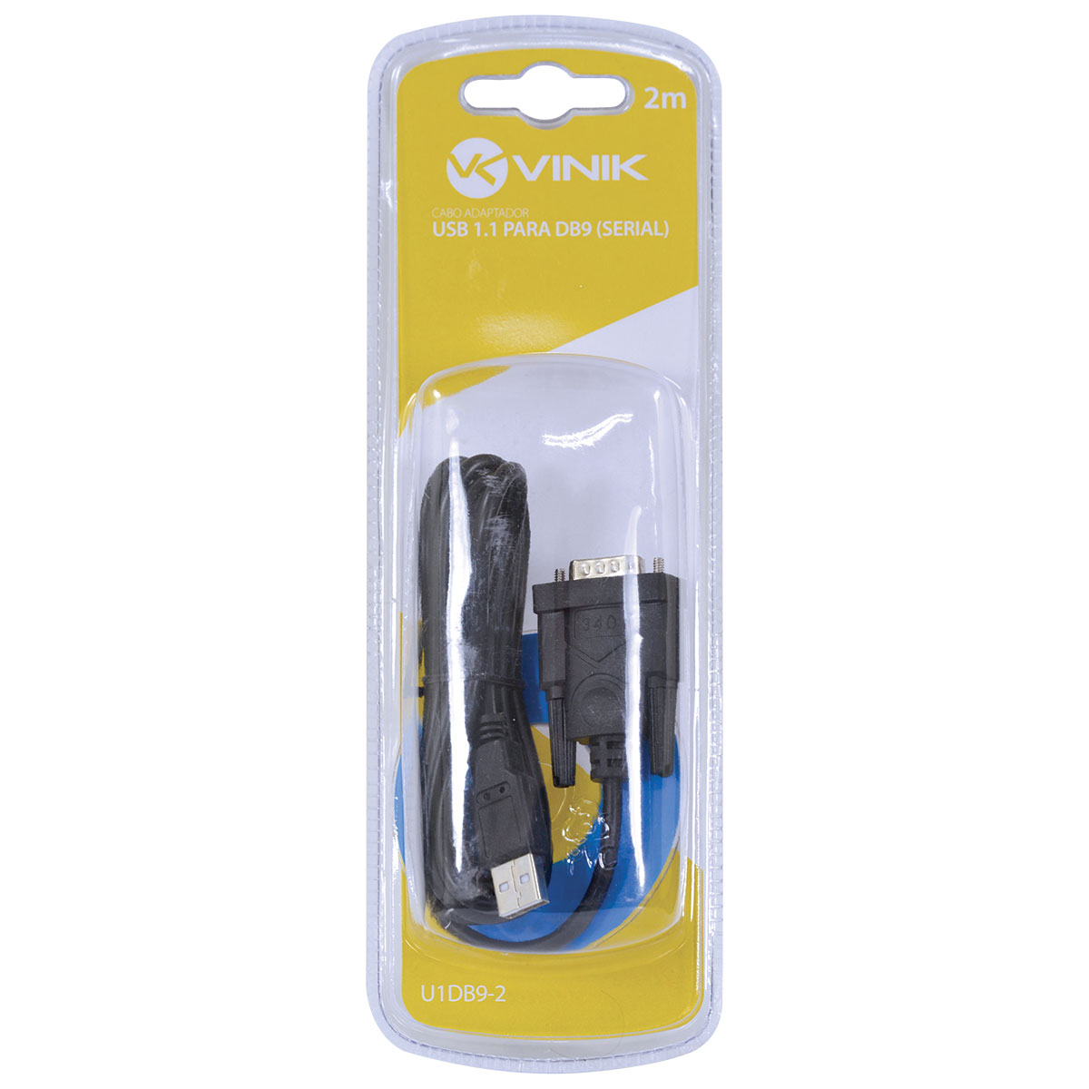 CABO USB 1.1 CONVERTE 1 PORTA USB EM 1 SAÍDA SERIAL DB9 RS232 2 METROS U1DB9-2