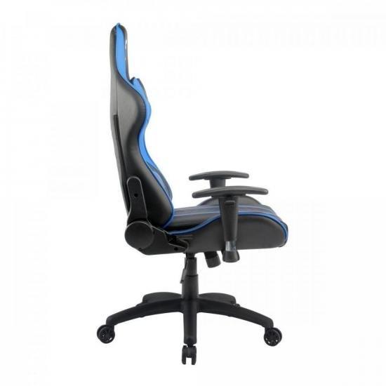 Cadeira Gamer Black Hawk Preta/Azul FORTREK