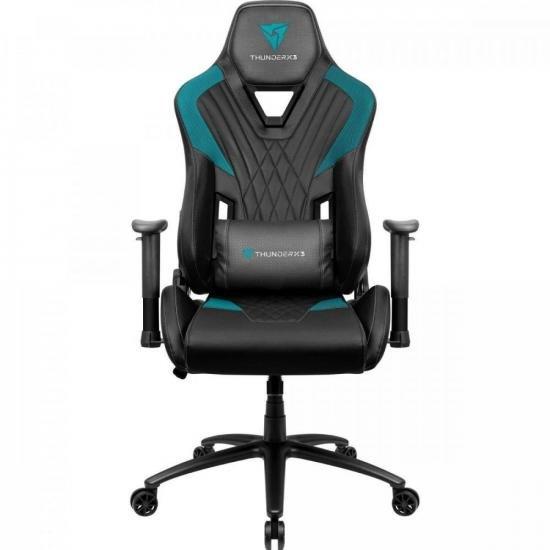 Cadeira Gamer DC3 Preta/Ciano THUNDERX3