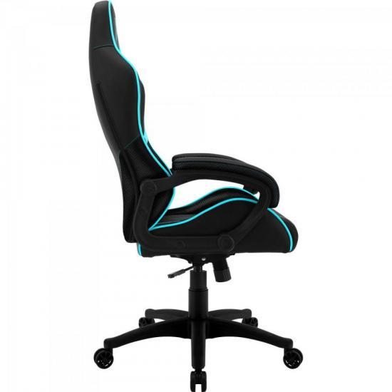 Cadeira Gamer Profissional AIR BC-1 EN61867 Preta/Ciano THUNDERX3