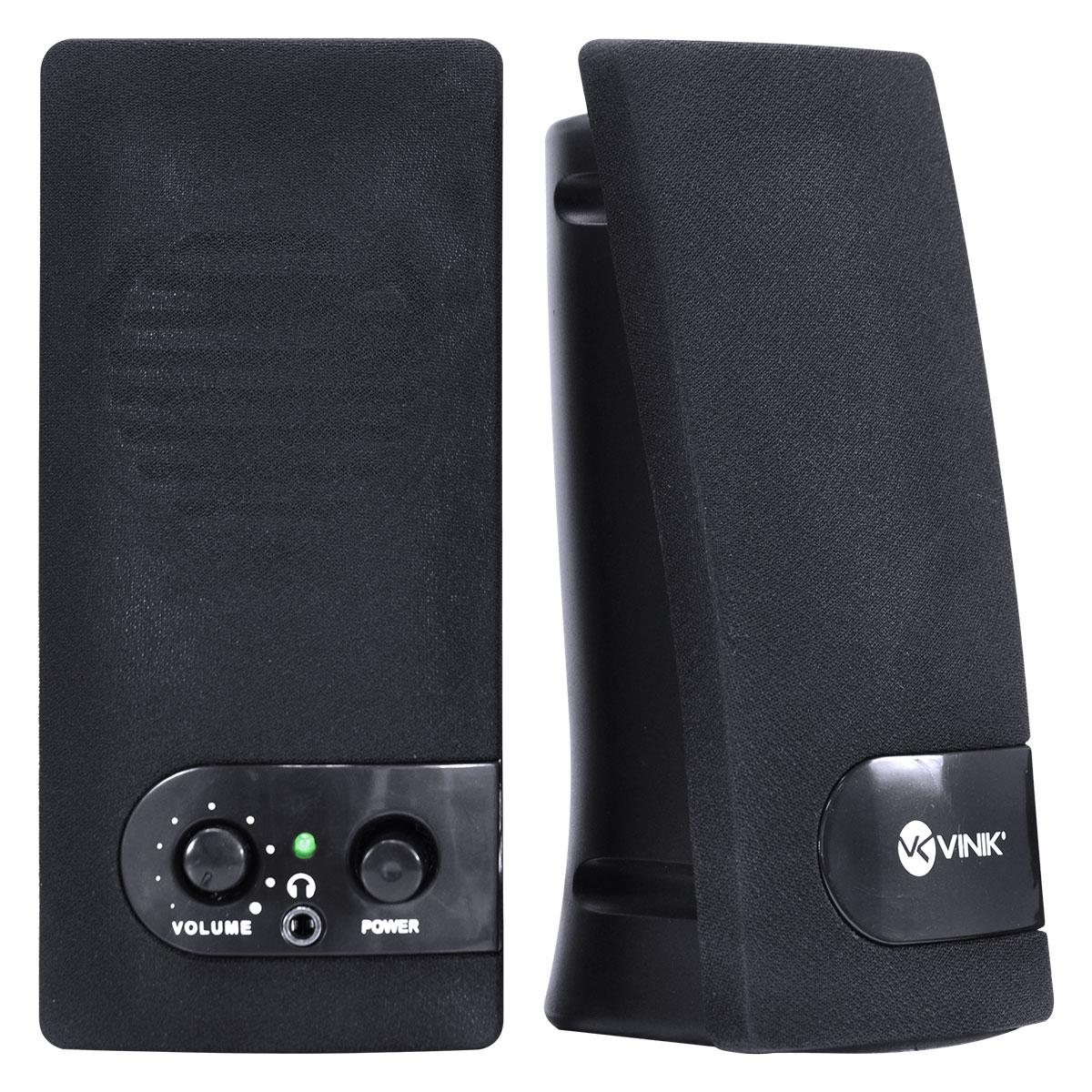CAIXA DE SOM 2.0 USB 6W RMS ONE PRETA - VS-202
