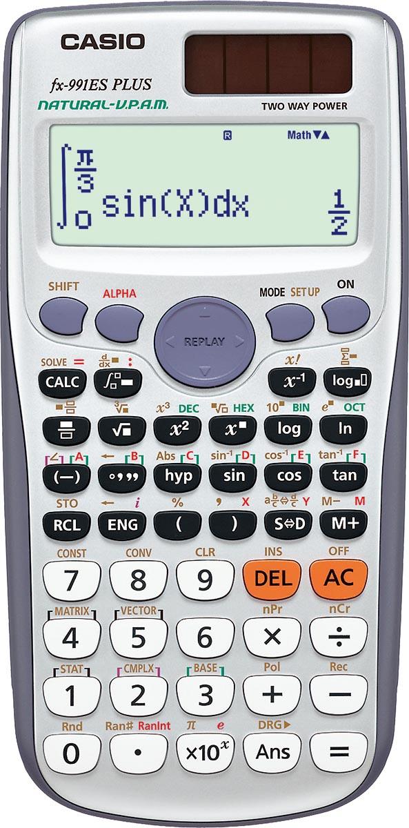 CALCULADORA CIENTÍFICA 12 DÍGITOS FX-991ESPLUS-SC4DH PRATA, 417 FUNÇÕES VISOR NATURAL 4 LINHAS