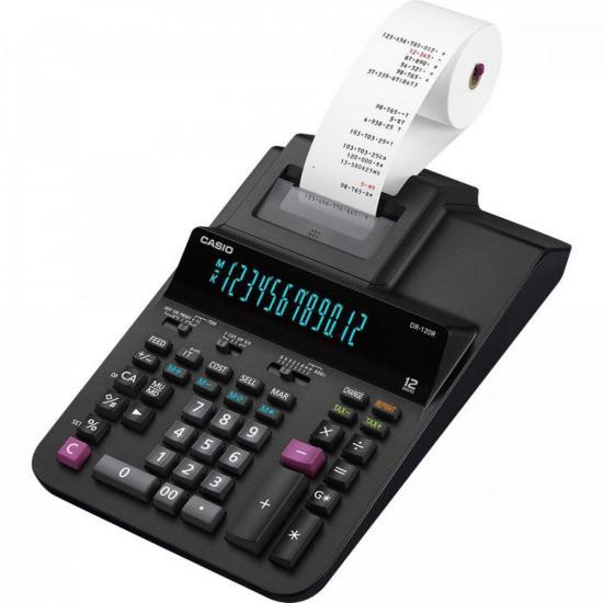 Calculadora com Bobina DR-120R-BK Preta CASIO