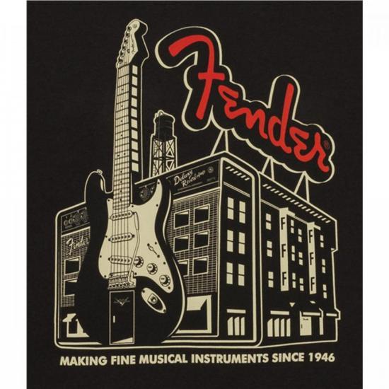 """Camiseta AMP Building """"G"""" Coal FENDER"""