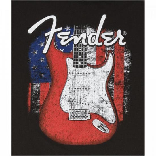 """Camiseta Red Strat """"G"""" Preta FENDER"""