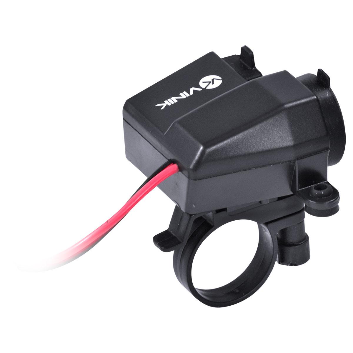 """CARREGADOR USB PARA MOTO C/ SAÍDA 2.1A - PROVA D""""ÁGUA E POEIRA ACM-2A"""