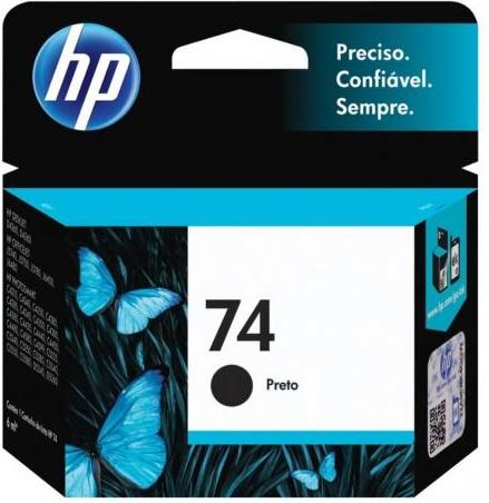 CARTUCHO CB335WB HP 74 PRETO