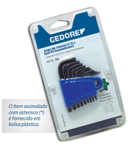 """CHAVE TORX """"L"""" 43TX09 GEDORE (024620)"""