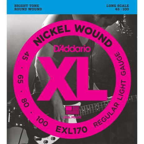 CORDA DADDARIO BAIXO 4C EXL170 / 045-100 / NICKEL WOUND