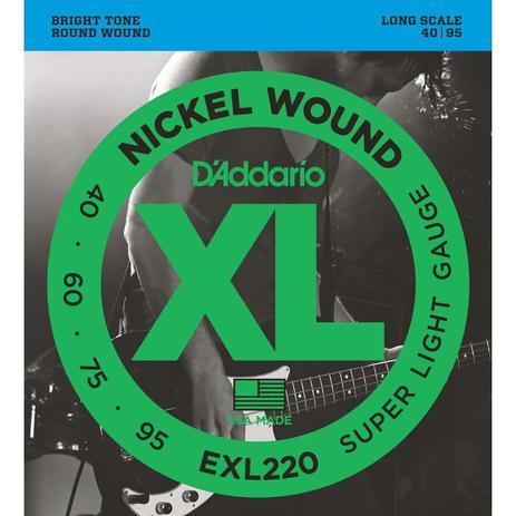CORDA DADDARIO BAIXO 4C EXL220 / 040-095 / NICKEL WOU