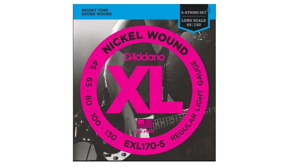 CORDA DADDARIO BAIXO 5C EXL170-5 / 045-130 / NICKEL WOUND