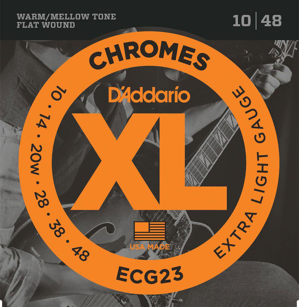 CORDA DADDARIO GUITARRA ECG23 010/048 CHROMES EXT LIGHT