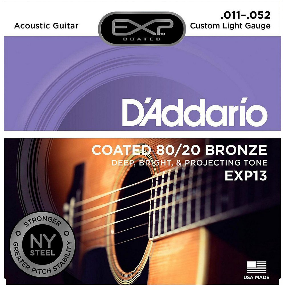 CORDA DADDARIO VIOLAO AÇO EXP13 011/052 COATED 80/20