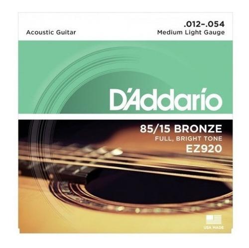 CORDA DADDARIO VIOLAO AÇO EZ920-012/054 BRONZE 85/15