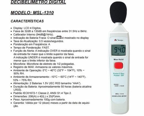 DECIBELIMETRO MINIPA MSL-1310