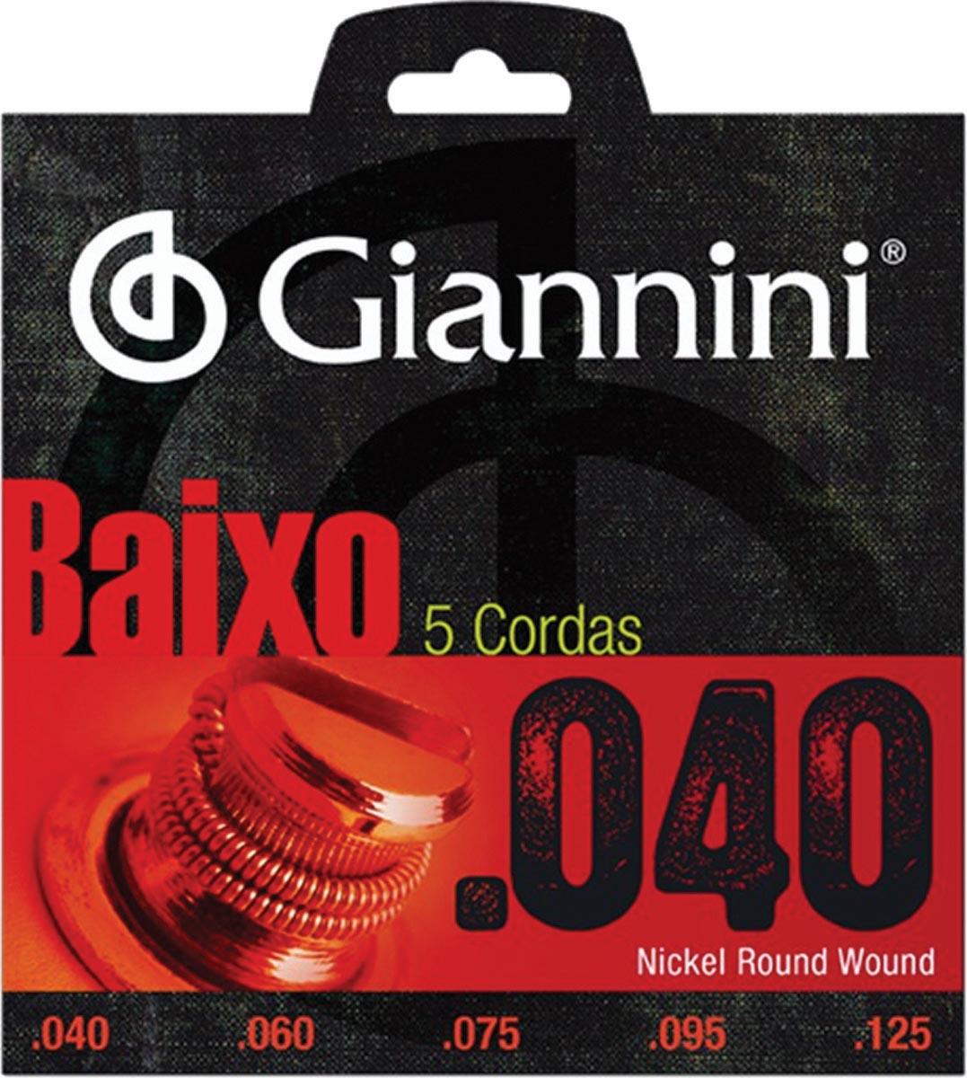 ENCORDOAMENTO PARA CONTRA BAIXO ELÉTRICO 5 CORDAS GEEBRL 5 - .040-.125