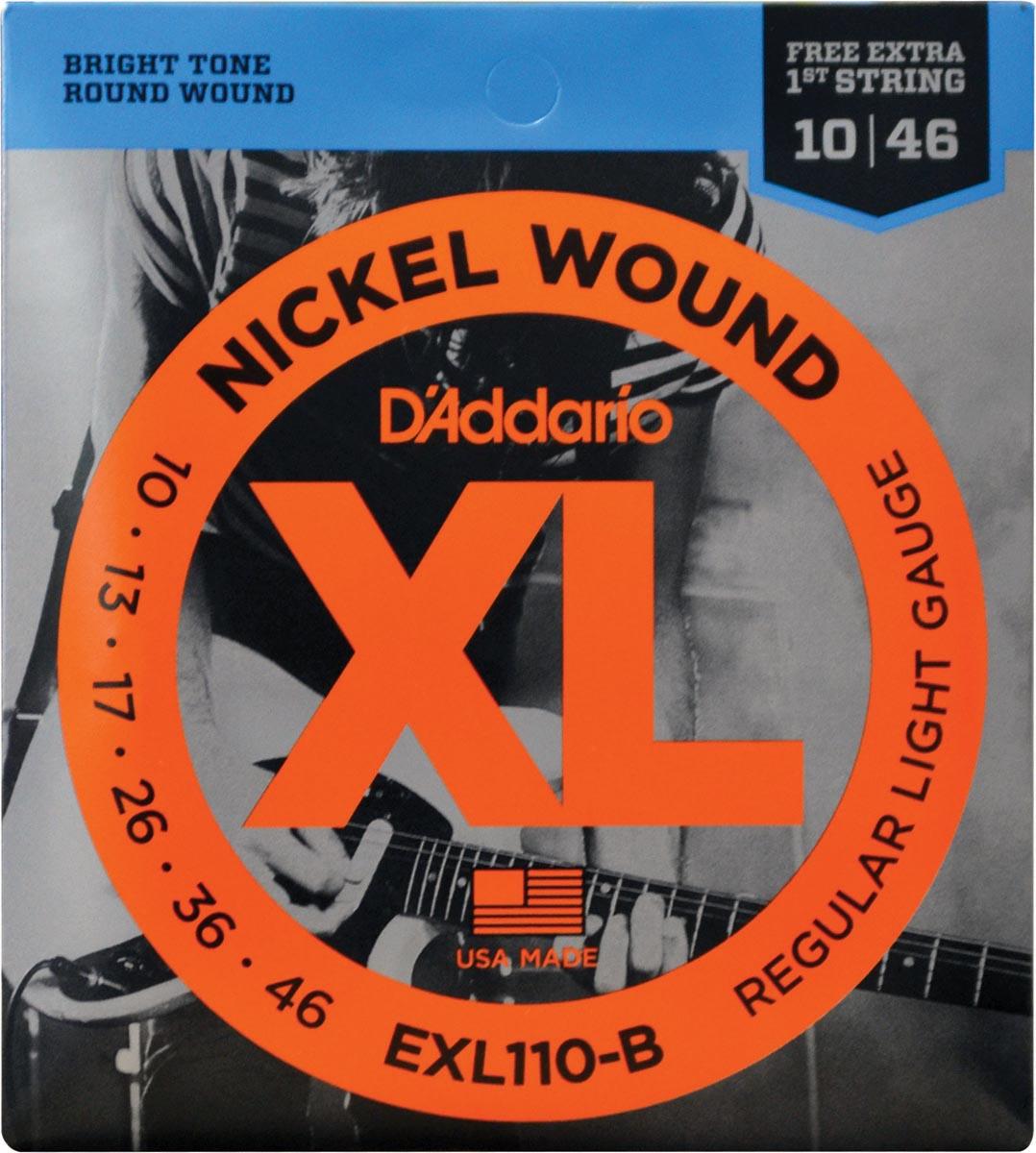 ENCORDOAMENTO PARA GUITARRA - EXL110-B 6 CORDAS REGULAR LIGHT .010-.046 - CORDA MI EXTRA