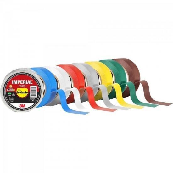 Fita Isolante 18mm x 10m IMPERIAL Amarela 3M - PCT / 10