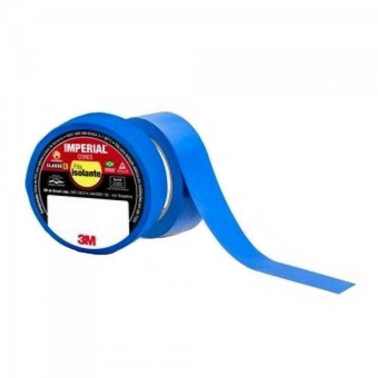 Fita Isolante 18mm X 10m IMPERIAL Azul 3M - PCT / 10