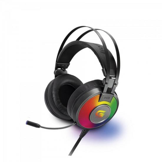 Headset Gamer RGB G Pro H3 Cinza FORTREK