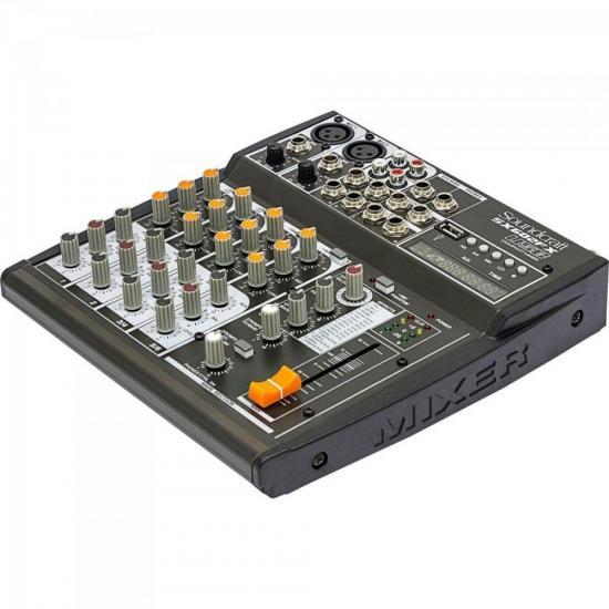 Mesa de Som 6 Canais USB SX602FX Preta SOUNDCRAFT