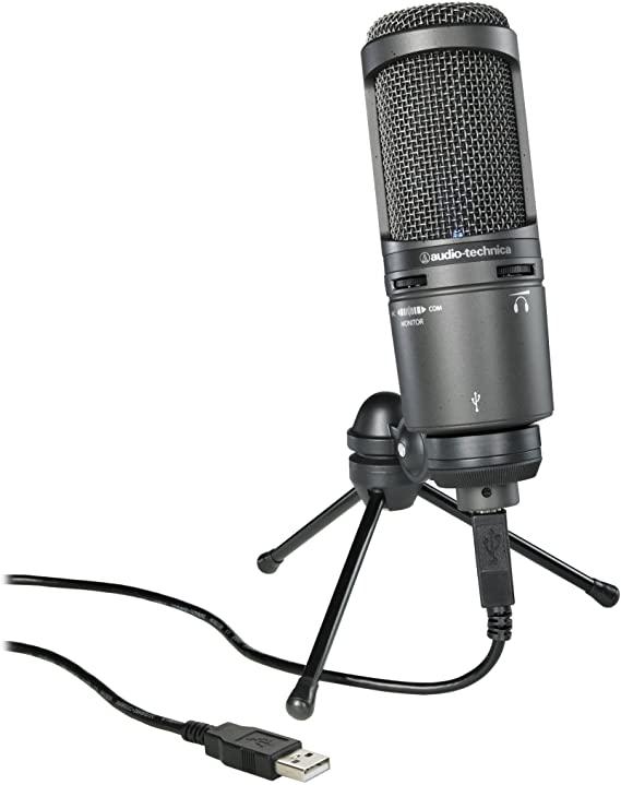 MICROFONE AUDIO-TECHNICA CONDENSADOR AT 2020