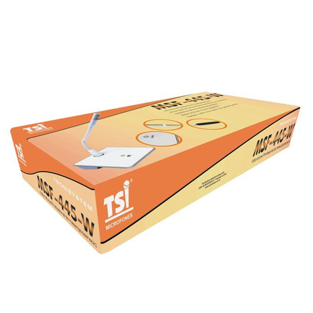 MICROFONE COM FIO TSI GOOSENECK MSF-445-W BRANCO