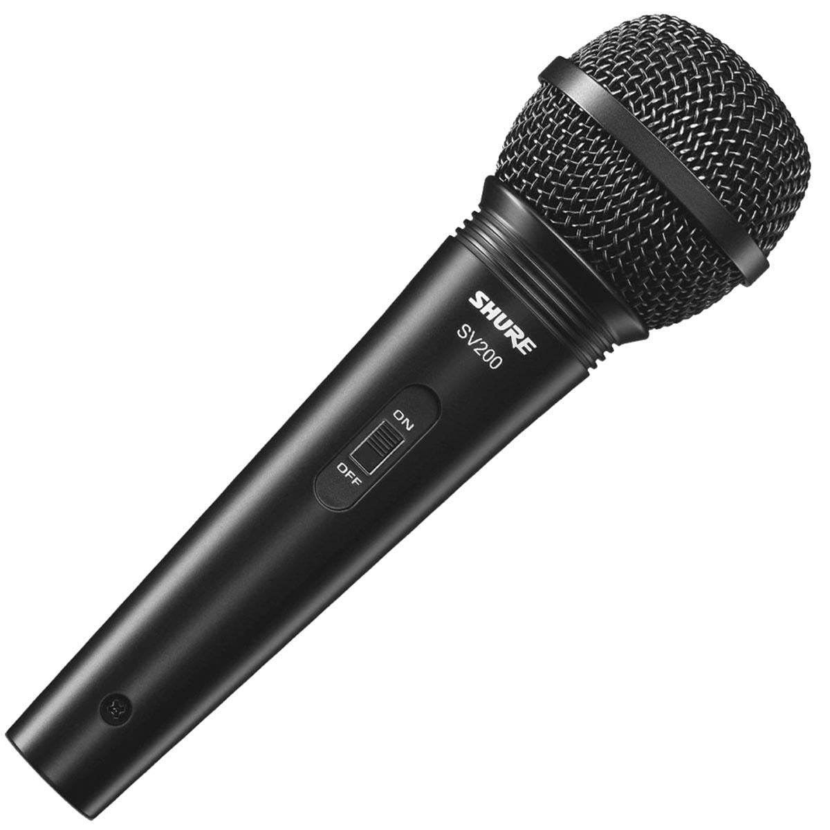 MICROFONE PROFISSIONAL VOCAL COM FIO SV200 COM CABO 4,5 METROS