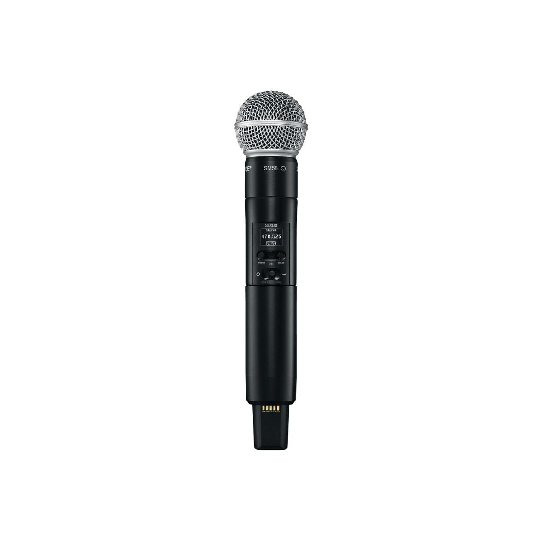 MICROFONE S/ FIO SHURE SLXD24/SM58/G58