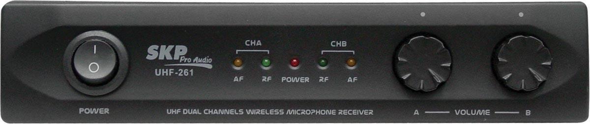 MICROFONE SEM FIO DE MÃO DUPLO UHF261, ALCANCE 80M EM ESPAÇO ABERTO, BIVOLT