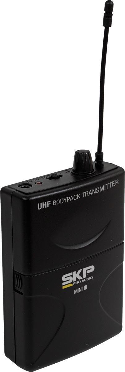 MICROFONE SEM FIO UHF DE LAPELA MINI-III, DISTÂNCIA MÁXIMA DE OPERAÇÃO: 50 METROS