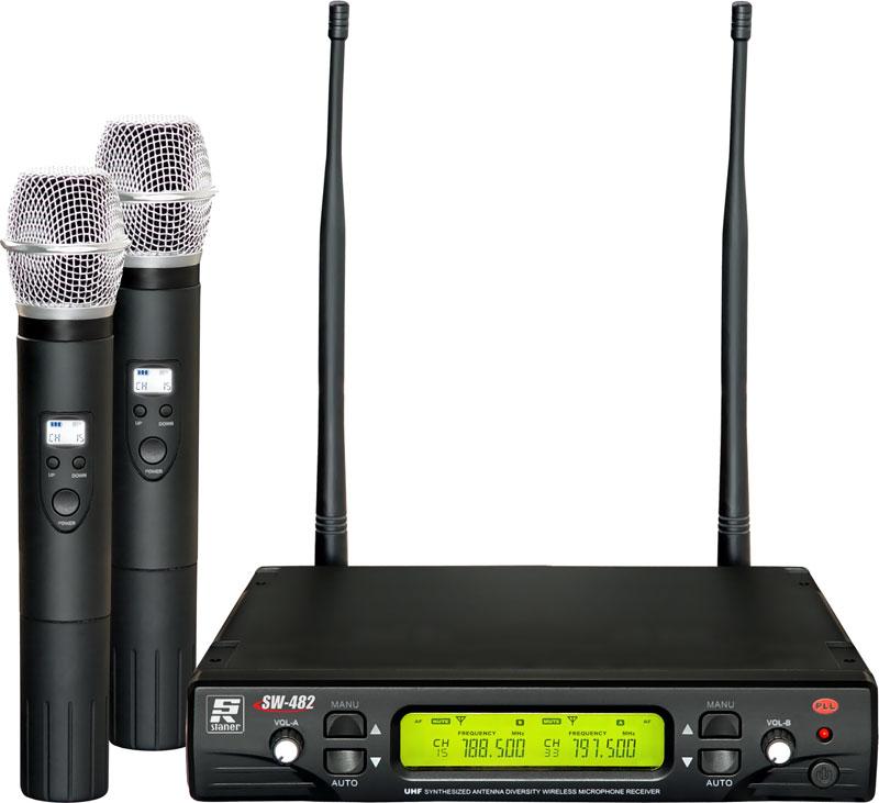 MICROFONE STANER SW 482 MÃO DUPLO UHF