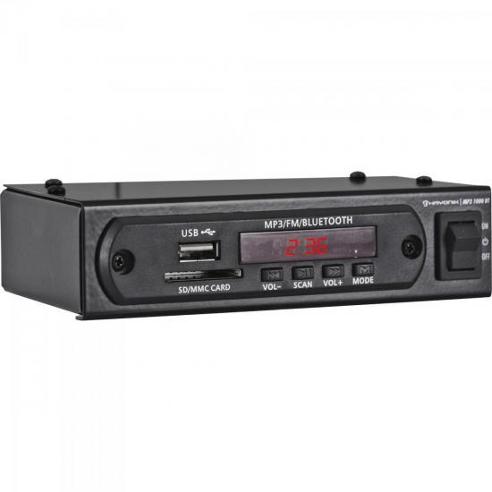 Módulo Pré Amplificador C/ FM/USB/MP3/Bluetooth MP3 1000BT Preto HAYONIK