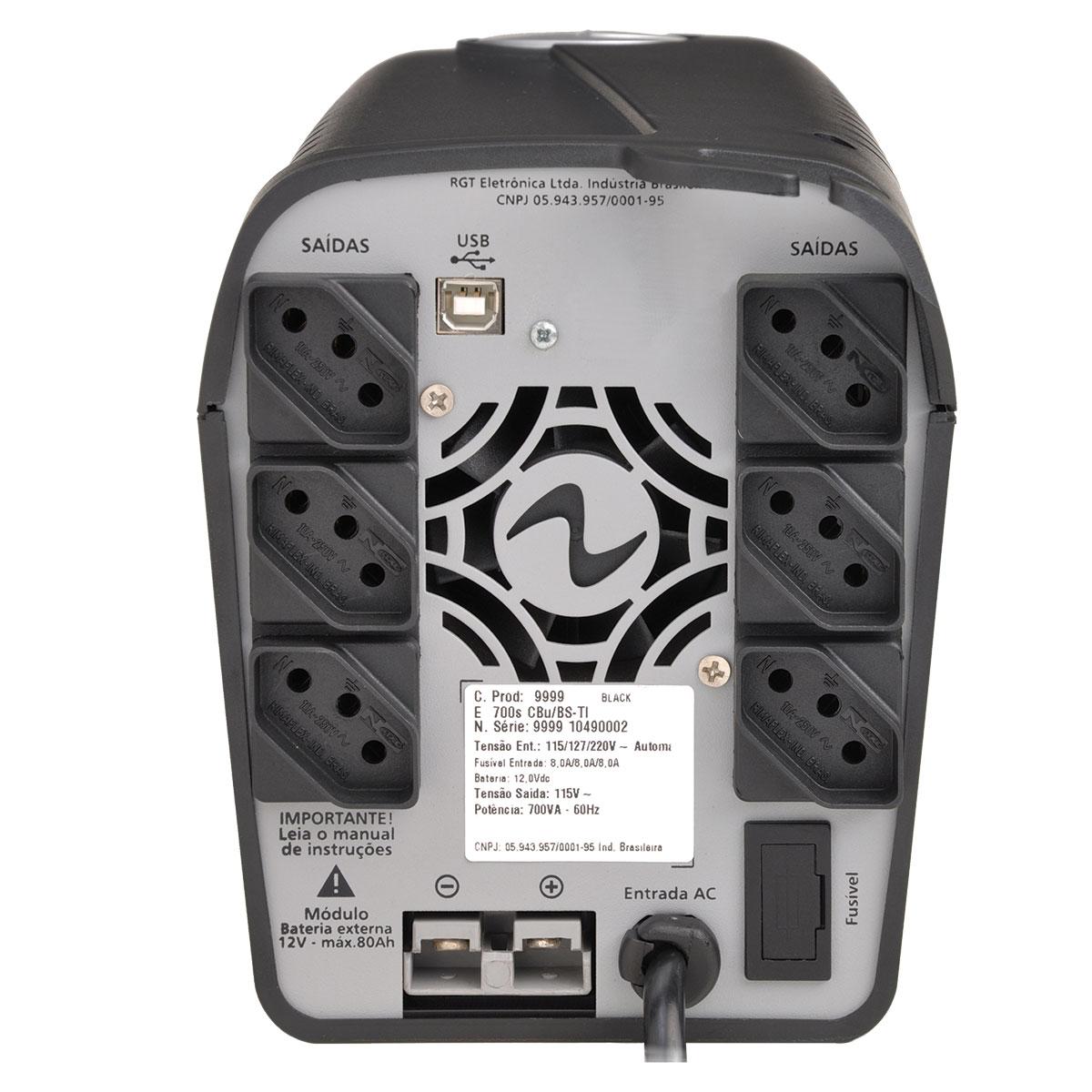 NOBREAK NEW EASY WAY 1400VA COM USB E CONEXÃO P/ BATERIA EXTERNA TRIVOLT SAÍDA 115V 4154