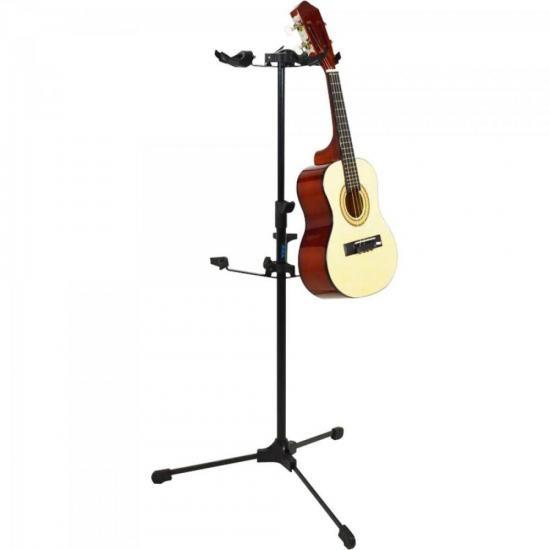 Pedestal Para 3 Instrumentos de Corda G30 Preto ASK