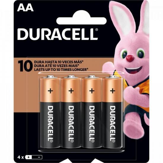Pilha Alcalina AA MN1500 (Caixa c/48 pilhas)(cartela c/4 pilhas) DURACELL - CXF / 48
